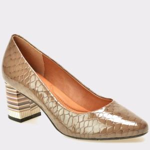 Pantofi EPICA bej, 7122337, din piele naturala lacuita