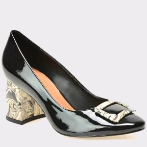 Pantofi EPICA negri, 8095406, din piele naturala lacuita
