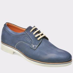 Pantofi OTTER bleumarin, 1216, din nabuc
