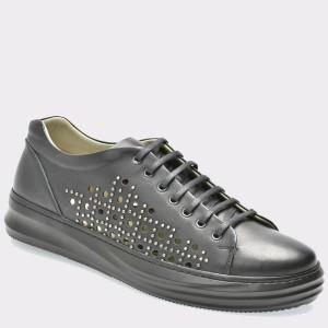 Pantofi GRYXX negri, 13403, din piele naturala