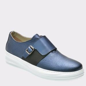 Pantofi GRYXX bleumarin, 13415, din piele naturala