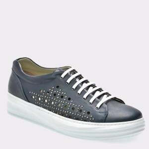 Pantofi GRYXX bleumarin, 13403, din piele naturala