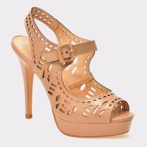 Sandale EPICA nude, 5010004, din piele naturala