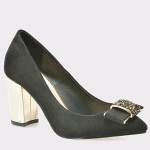 Pantofi MENBUR negri, 7721, din material textil