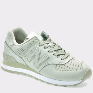 Pantofi sport NEW BALANCE verzi, Wl574, din piele naturala