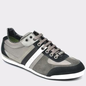 Pantofi HUGO BOSS gri, 7168, din material textil