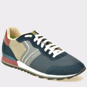 Pantofi HUGO BOSS bleumarin, 1435, din piele intoarsa