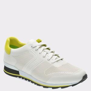 Pantofi sport HUGO BOSS albi, 5646, din material textil