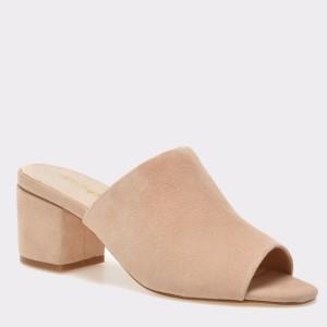 Papuci IMAGE roz, 9303, din piele intoarsa