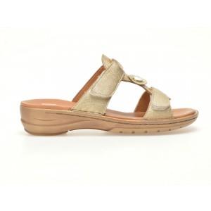 Papuci ARA aurii, 37273, din piele naturala