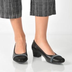 Pantofi Ara Negri, 35848, Din Piele Naturala