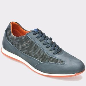 Pantofi BUGATTI albastri, 45003, din nabuc