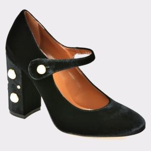 Pantofi EPICA negri , 1289, din material textil