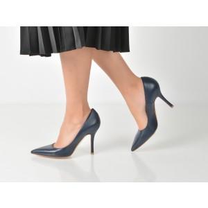 Pantofi Epica Bleumarin, 103, Din Piele Naturala