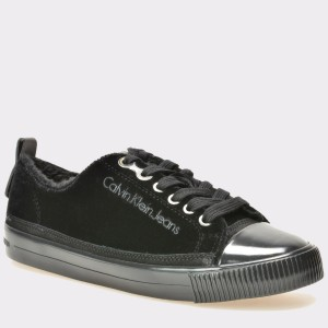 Pantofi CALVIN KLEIN negri, R0532, din material textil