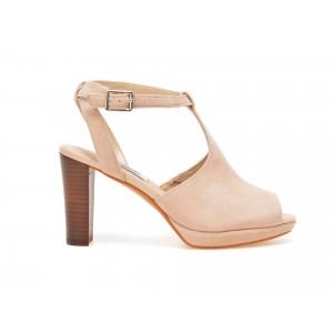 Sandale CLARKS nude, 6123440, din piele intoarsa