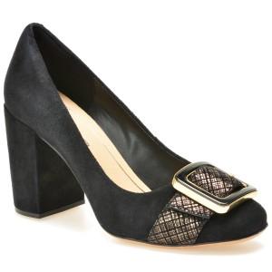 Pantofi CLARKS negri, 6127456, din piele intoarsa