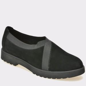 Pantofi CLARKS negri, 6128351, din piele intoarsa
