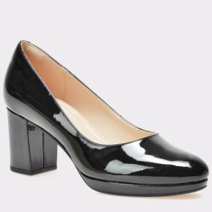 Pantofi CLARKS negri, 6126723, din piele naturala lacuita