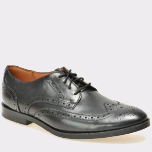 Pantofi CLARKS negri, 6124607, din piele naturala
