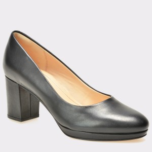 Pantofi CLARKS negri, 6123554, din piele naturala