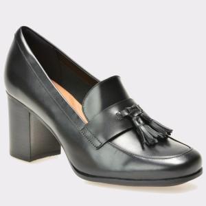 Pantofi CLARKS negri, 6127886, din piele naturala