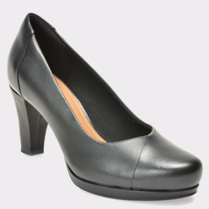 Pantofi CLARKS negri, 6127948, din piele naturala
