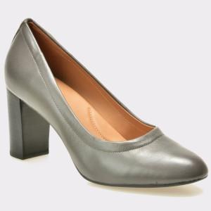 Pantofi CLARKS gri, 6127937, din piele naturala