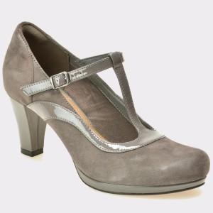 Pantofi CLARKS gri, 6129435, din piele intoarsa