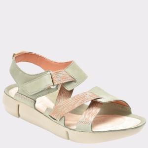 Sandale CLARKS verzi, 6131274, din piele naturala