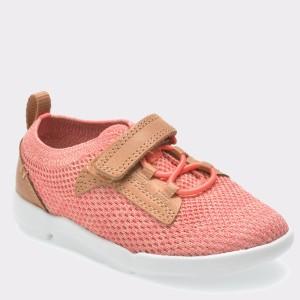 Pantofi sport pentru copii CLARKS roz, 6131402, din material textil