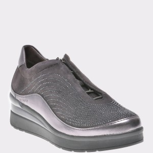 Pantofi STONEFLY gri, Cream2, din piele intoarsa