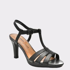 Sandale CLARKS negre, 6133573, din piele naturala