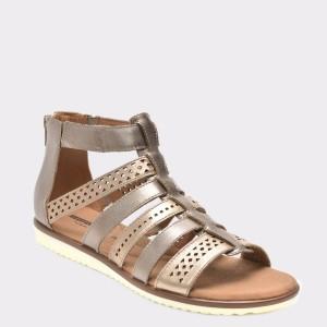 Sandale CLARKS mov, 6133583, din piele naturala