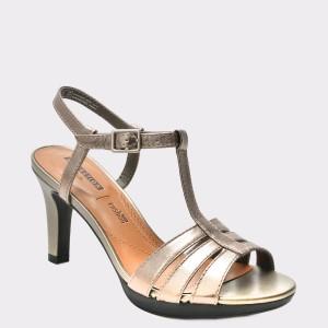 Sandale CLARKS argintii, 6133574, din piele naturala