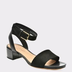 Sandale CLARKS negre, 6131266, din piele naturala