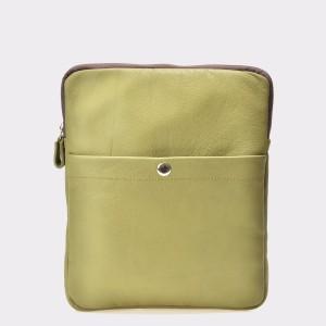 Borseta verde, Bb27, din piele naturala