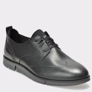 Pantofi CLARKS negri, 6128346, din piele naturala
