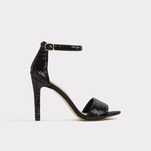 Sandale ALDO negre, Fioll94, din material textil