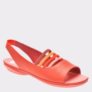 Sandale CAMPER rosii, K200620, din piele naturala