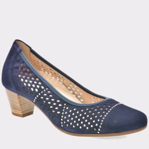 Pantofi GABOR bleumarin, 86184, din piele intoarsa