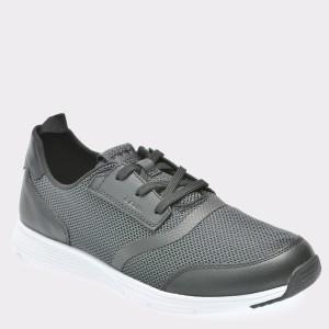Pantofi GEOX negri, U822Da, din material textil