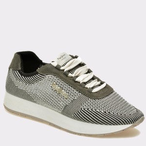 Pantofi PEPE JEANS gri, Ls30490, din material textil si piele naturala