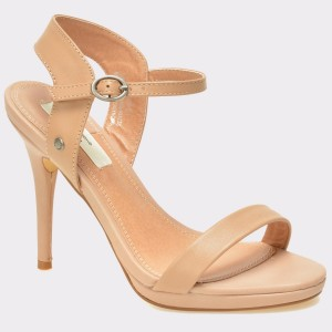 Sandale PEPE JEANS nude, Ls90275, din piele intoarsa