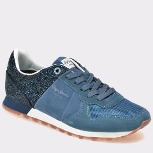 Pantofi PEPE JEANS albastri, Ls30538, din piele intoarsa