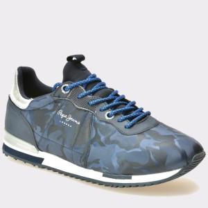 Pantofi PEPE JEANS bleumarin, Ms30379, din material textil