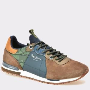 Pantofi PEPE JEANS maro, Ms30377, din material textil
