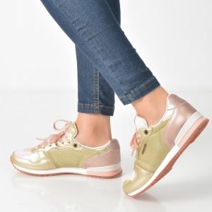 Pantofi Sport Pepe Jeans Aurii, Ls30619, Din Piele Ecologica