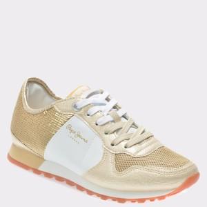 Pantofi sport PEPE JEANS aurii, Ls30625, din piele ecologica