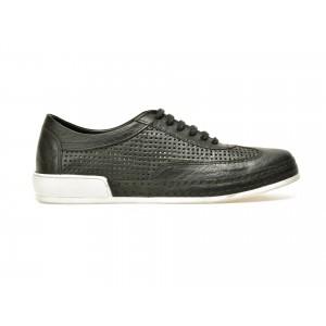 Pantofi OTTER negri, M3883, din piele naturala